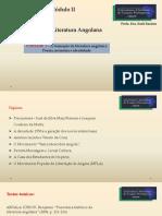 [SLIDES]  AULA 1  [UNIDADE 1 ] LITERATURA ANGOLANA -
