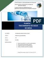 Proyectos de Inversion Planta de Tratami