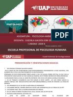 Diapos -Psicoologia Ambiental Semana 1