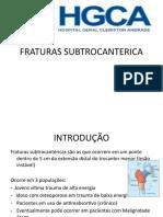 FRATURAS SUBTROCANTÉRICA
