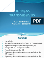 1 aula de  Doenças transmissíveis Introdução Tema 1 e 2.Pós FDMppt