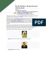 Lista de Chefes de Estado e de Governo Por Data Da Tomada de Posse