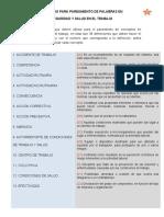 GLOSARIO DE APAREAMIENTO DE CONCEPTOS EN SST