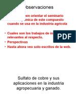 Sulfato de cobre y sus aplicaciones en la