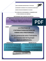 La Strategie de l'Internationalisation Des Firmes Multinationales