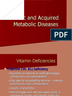 Toxic and Acquired Metabolic Diseases