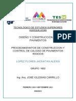 1.5 PROCEDIMIENTOS Y CONSTRUCCION DE CALIDAD DE PAVIMENTOS RIGIDOS