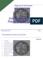3 - Administración de recursos de datos