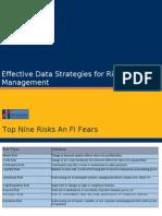 Hexaware 2011,Effective Data Strategies for Risk Management