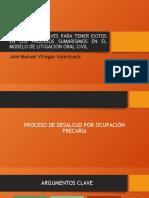 ARGUMENTOS CLAVES PARA TENER EXITOS EN LOS PROCESOS José Manuel Villegas Valenzuela