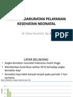Kegawatdaruratan Neonatus Dr. Devy k ,Sp.A