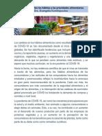 Los cambios en los hábitos alimenticios como resultado de la pandemia de COVID