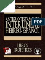 Tanaj – תנך – Antiguo Testamento – Neviim – נביאים – Profetas – Interlineal Hebreo Español Tomo 4
