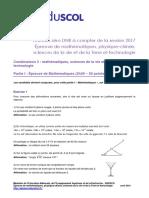 DNB 2017 Sujet Zero MathsSciences3 MSVTT 563816