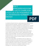ENFERMERA Y MICROEMPRESARIA AQUILINA PALOMINO