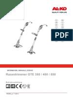 Инструкция Al-ko Gte 450 Comfort (1)