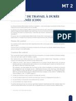 MT 2 - Contrat de travail à durée déterminée - Francais