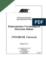 Arri 575/1200 EB German manual
