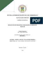 RESOLUCIÓN DE IMÁGENES TOMOGRÁFICAS MEDIANTE MATLAB