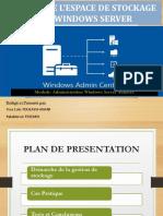 Presentation_GestionDeSotckage_Sous_WindowsServer