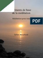 Éléments de base de la méditation