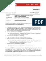 Norma 1-2021 - COVID-19 – Campanha de Vacinação contra a COVID-19 - Vaccine MODERNA® - atualizada a 23.03.2021