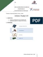 ARDUINO - DISPLAY LCD
