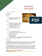 Coffee Buns (Roti Buns)