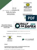 Apresentação do Rally da Safra 2019 2020 por Dr Ondino