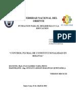 control plural de constitucionalidad