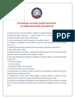 Documente Necesare Inscrierii La Masterat