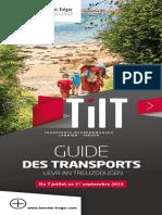 TILT - Le guide des transports de LTC pour l'été 2021