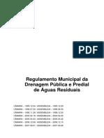 REGULAMENTO MUNICIPAL DA DRENAGEM PÚBLICA E PREDIAL DE ÁGUAS RESIDUAIS
