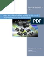 definicion y funcionamiento de microcontroladores y microprocesadores