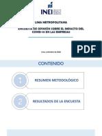 Resultados Encuesta Covid Lima Metropolitana 2020