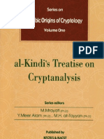 Arabic Origins of Cryptology  Vol. 1