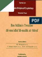 Arabic Origins of Cryptology Vol. 2