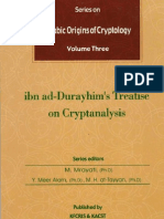 Arabic Origins of Cryptology Vol. 3