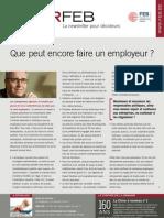 Que peut encore faire un employeur ?, Infor FEB 10, 18 mars 2011