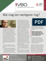 Wat mag een werkgever nog?, Infor VBO 10, 18 maart 2011