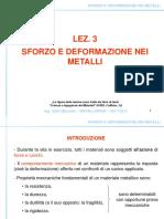 Lez_3_Sforzo e Deformazione Nei Metalli