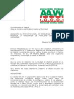 Alegaciones de La FRAVM al proyecto de modificación de La Ordenanza de Movilidad Sostenibles de 2018