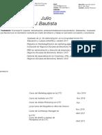 Curriculum-Julio J. Bautista