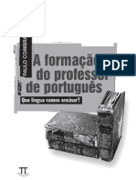 a formação do professor de portugues