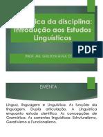 Dinâmica- Introdução aos Estudos  Linguísticos