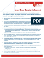 BHB Blood Donor Eligibility Factsheet June 2021