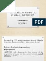 ACTUALIZACION DE LA CUOTA ALIMENTARIA.