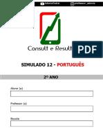 Simulado 12 - Português - 2º ano (Blog do Prof. Adonis)