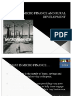 MICRO FINANCE AND RURAL DEVELOPMENT
