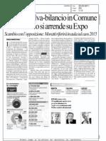 ACCORDO SALVA-BILANCIO IN COMUNE MA IL SINDACO SI ARRENDE SU EXPO  (LA REPUBBLICA MILANO)